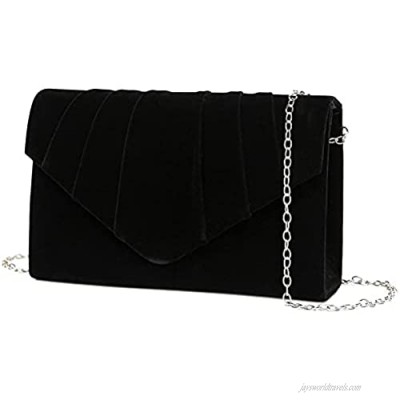 YIKOEE Women's Envelope Clutch Purses Pleated Evening Bag