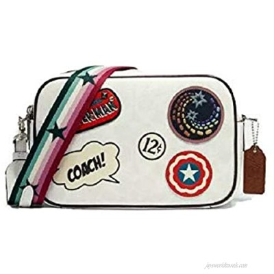 Coach Marvel Jes Crossbody In Signature Canvas/Leather With Patches