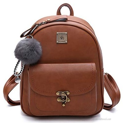 Leather Backpack TOMAS Mini Backpack for Women PU Leather Small Backpack Ladies Shoulder Bag Casual Travel Daypack