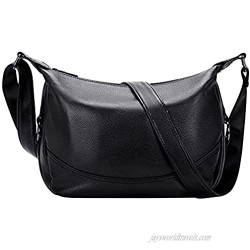 OVER EARTH Genuine Leather Handbags for Women Soft Leather Crossbody Bag Shoulder Purse