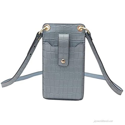 Small Genuine Leather RFID Blocking Crossbody Phone Bag for Women Cellphone Shoulder Bags Card Holder Wallet Purse