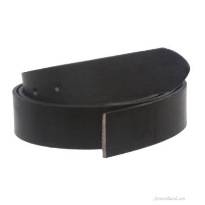 1 1/4 Inch (33mm) Cut-to-Fit Top Grain Cowhide Plain Straight Leather Belt Strap