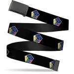 Buckle-Down Men's Web Belt International Space Station Multicolor 1.25 Wide-Fits up to 42 Pant Size