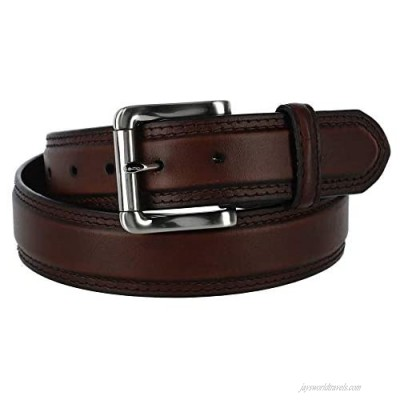 Hickory Creek Men's Oil Tanned Padded Belt with Roller Buckle