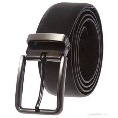 Men's Clamp on Feather Edged Italian Leather Dress Belt