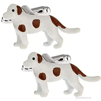 Thot Ra Dog With Brown Spots Desing Cufflinks For Men Mod. A-713