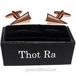Thot Ra Paper Airplane Aircraft Plane Gold Rose Tone Cufflinks For Men Mod. A-804