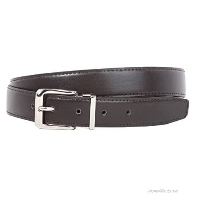 1 1/8 Inch Clamp On Silver Buckle One Size Fits All Faux Leather Belt