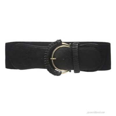 """3"""" Wide Semi braided Covered double ring High Waist Stretch Belt"""