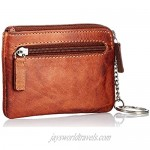 camel active Melbourne key case key bag real leather 2 key rings brown 11.5 x 1 x 8 cm