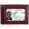 Mens ID Wallet Card Case Holder Minimalist Front Pocket Carry Italian Leather
