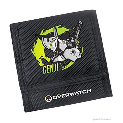 OverWatch Game Around Slim Canvas Wallets Front Pocket Tifold with Card Slots Holder and ID Window Mens Wallet Christmas Gift