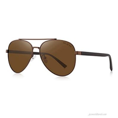 OLIEYE Mens Polarized Sunglasses for Men Women with case Mirror Lens Classic Style