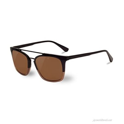 Vuarnet VL160100032121 Cable Car Sunglasses Brown and Taupe Frame Pure Brown Lens