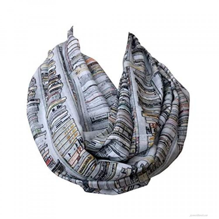 Book infinity scarf book accessories Library Bookshelves womens literary gifts nerdy bookworm