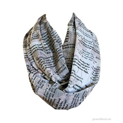 Etwoa's Homer Ilyada and Odyssey Book Quotes Infinity Scarf Circle Loop Scarf