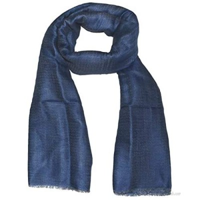 Linen Scarf Two Tone Diamond Weave Fluffy Soft Airy Large All Weather Linen Scarf.