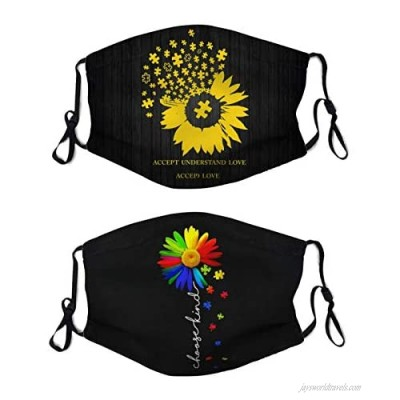 Autism Mouth Cover Washable With 2 Pcs Filters Reusable Face Bandanas Dust-Proof Balaclava