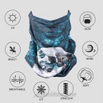 Bun Large Neck Gaiter Earloops Face Mask Bandana Warm Breathable Mouth Cover 1 Pack
