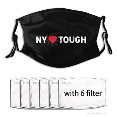 New-Y-ork T-ough Adult Washable Cloth Face Mask Reusable and Adjustable face Covering with Filter