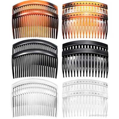 12 Pieces French Side Combs Plastic Twist Comb Strong Hold Hair Clips Hair Accessories for Girls Women 16 and 23 Teeth