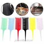 1PC Professional 3-Way Hair Combs Weaving Hair Highlighting Sectioning Comb Hair Highlight Sectioning Comb Hair Highlighting Weaving Comb for Hairdressing Salon Blue