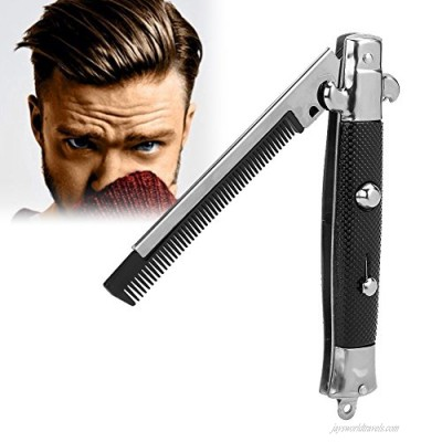 Hair Comb Oil Hair Styling Spring Comb Automatic Pocket Folding Push Button Hair Brush for Men Use for Head Hair or Beard